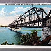 Vintage Government Bridge Davenport Iowa