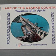 1950's Lake of the Ozarks Country Souvenir Photo Folio