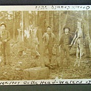 Real Photo Postcard 1909 Deer Hunting Camp Oconto County Wisconsin