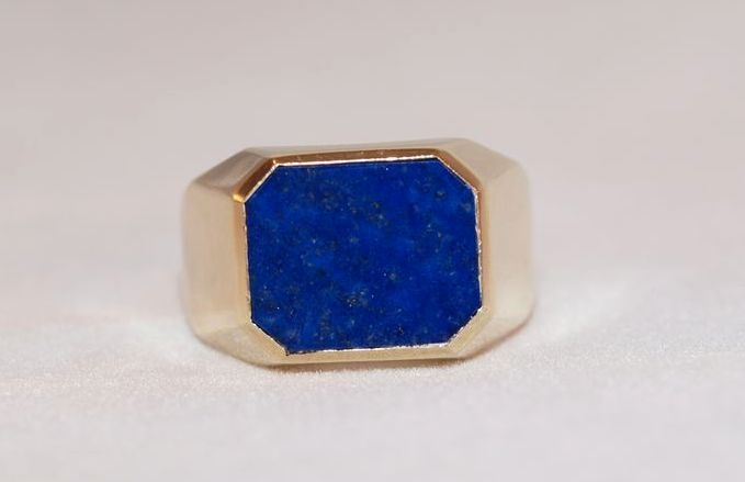 Men S 14k Gold Lapis Lazuli Ring Cassandra S Collection