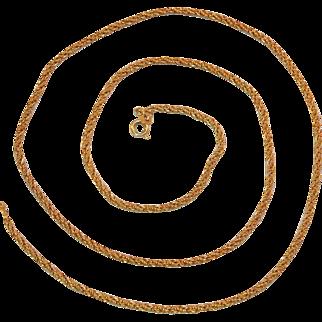 Victorian 14k Yellow Gold Roman Weave Chain