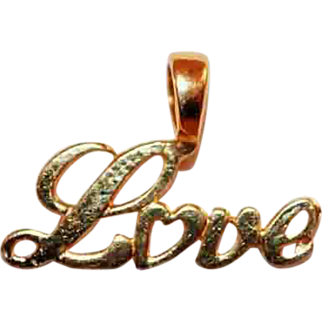 14k Yellow Gold Love Pendant/Charm