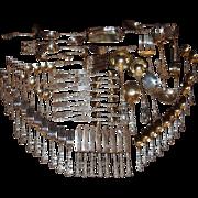 Rare 98 Piece Gorham Sterling Silver Imperial Chrysanthemum Silverware Set
