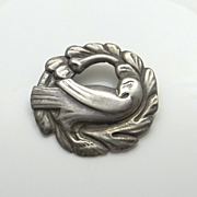Vintage Coro Sterling Silver Dove Pin