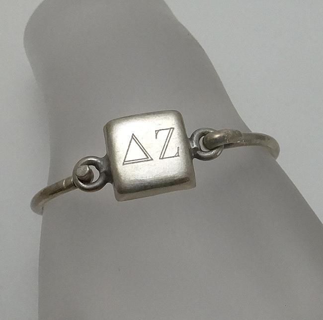 Sterling Silver Delta Zeta Sorority Bracelet