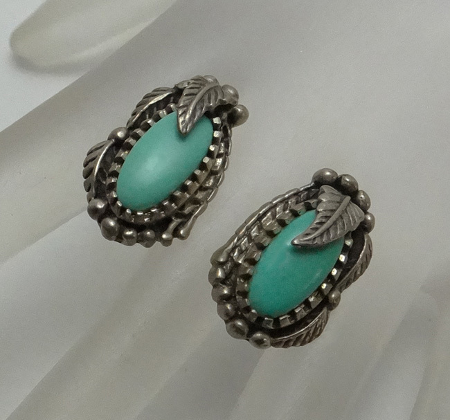Carol Felley Southwestern Turquoise Sterling Silver Earrings