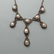 Sterling Silver Bali Suarti Fresh Water Pearl Drop Necklace
