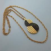 Vintage Trifari Mod Bakelite Necklace Spinach Green