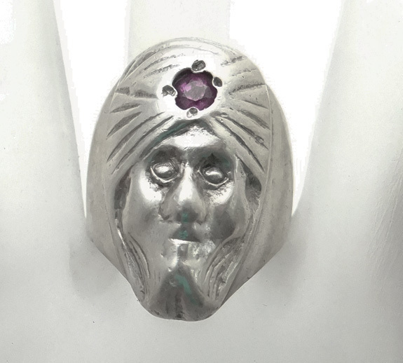 Vintage Sterling Silver Genie Ring