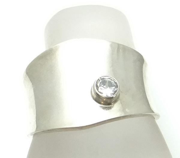Wide Sterling Silver Modernist Dulce Mexican Bracelet