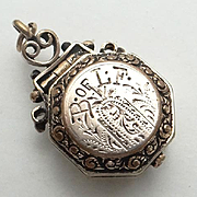 Antique Brotherhood of Locomotive Firemen and Enginemen Railroad Memorabilia Pendant