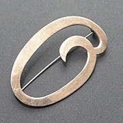 Modernistic Sterling Silver Pineda Brooch Pin