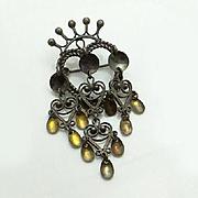 Vintage Scandinavian Sterling Silver Solje Pin