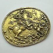 Alva Museum Replica St George Slaying Dragon Pin Big