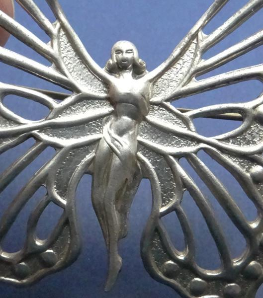 Vintage Lang Sterling Silver Nymph Fairy Butterfly Pin JUST REDUCED!