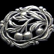 Vintage Earlier Danecraft Sterling Silver Cherry Pin