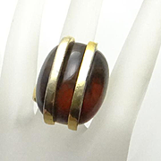 Modernist Lanvin Paris Adjustable Ring
