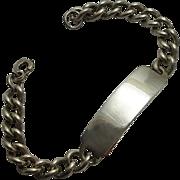 Vintage Chunky Sterling Silver I.D. Bracelet