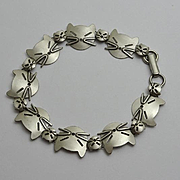 Adorable Beau Sterling Silver Modernist Cat  Link Bracelet JUST REDUCED!