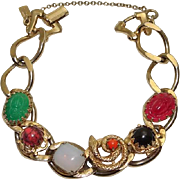 Vintage Reinad 5th Ave NY Chunky Link  Snake  Scarab Bracelet JUST REDUCED!