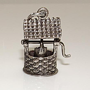 Large Moving Beau Sterling Silver Wishing Well Charm