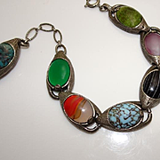 Chunky Miracle Glass Stone Dangle Charm Bracelet