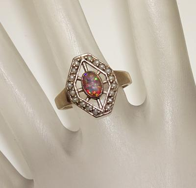 Sterling Silver Lab Created Opal Ring JUST REDUCED!