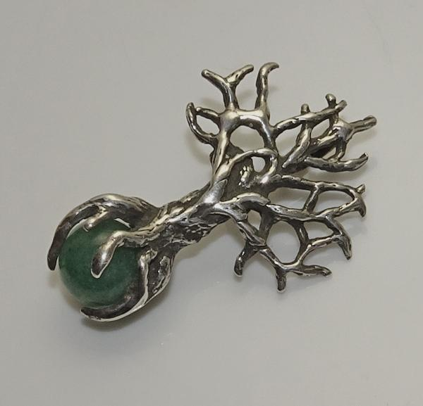 Unique Sterling Silver Tree Pendant