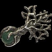 Unique Sterling Silver Tree Pendant