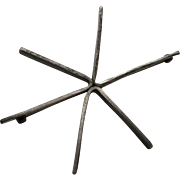 Vintage Modernist Betty Cooke Sterling Silver Starburst Pin