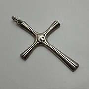 Vintage Sterling Silver Cross Pendant JUST REDUCED!