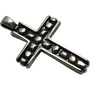 Vintage Sterling Silver Cross Pendant