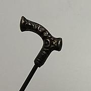 Antique Victorian Fancy Walking Cane Stick Pin