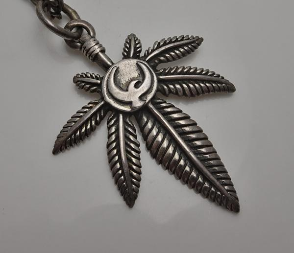 Vintage Retro Sterling Silver Marijuana Peace Dove Necklace JUST REDUCED!