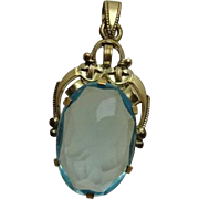 Antique Etruscan Blue Glass Pendant