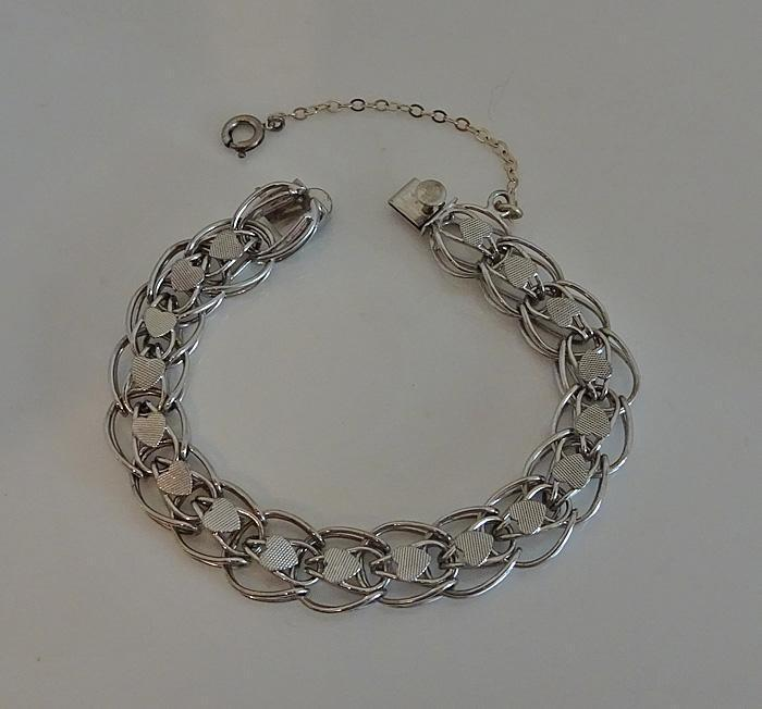 Vintage Sterling Heart Starter Charm Bracelet JUST REDUCED!