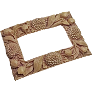 Large Vintage Celluloid Flower Belt Buckle