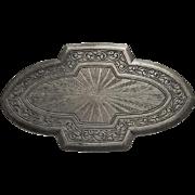 Antique Art Nouveau Sterling Silver Sash Pin