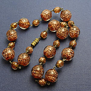 Vintage Italian Goldstone Necklace