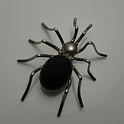 Large Vintage E Spencer Navajo  American Indian Spider Bug Insect Pin