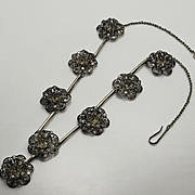 Antique Sterling Silver Cannetille Filigree Flower Necklace JUST REDUCED!