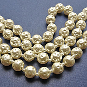 Vintage Miriam Haskell Faux Dimpled Pearl Necklace Clasp and Hang Tag JUST REDUCED!
