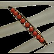 Vintage Genuine Coral Bar Pin