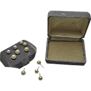 14K Gold Cultured Pearl Earrings Post Back Set From Mervyn's Department Store