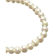 Elegant 14K Cultured Pearl Necklace