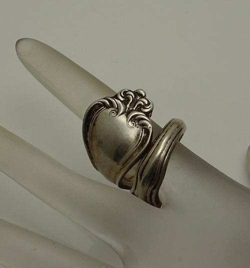 Vintage Sterling Silver Spoon Ring Westmorland George & Martha Washington Pattern