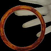 Vintage Root Beer Swirl  Bakelite Bangle Spacer Bracelet