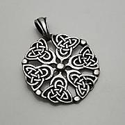 Sterling Silver Celtic Cross Design Pendant