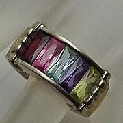 Sterling Silver Gemstone Chunky Ring