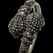 Victorian Antique Sterling Silver British Snake Wrap Bracelet Rare